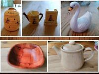 Mixed Items All £1 Each - Ornaments, Teapot, Wooden Bowl