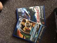 2 x racing games ps2