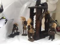 Decorative Wooden Hand Carved African