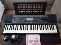 Yamaha PSR320 Electronic keyboard + Music cartridge + Original booklet