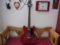 epiphone 335 with case