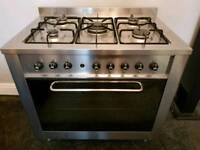 Indesit Range Cooker with Cooker Hood