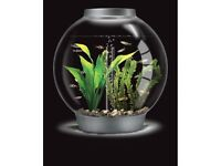 * Sold* BiOrb 60 Litre Silver Aquarium with BiOrb Plant Accessories, Filter System and LED Light
