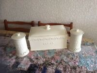 Bread bin and storage jars