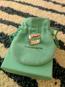 Tiffany & Co. 925 Sterling Silver 1837 Square Ring Size 8