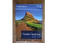 Modern Land Law Book £5
