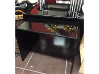 Next Black Glass nest of two tables