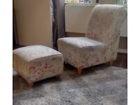 DARCY CHAIR AND FOOTSTOOL SET