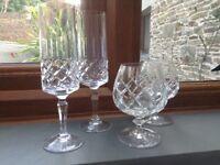 Cut crystal glasses