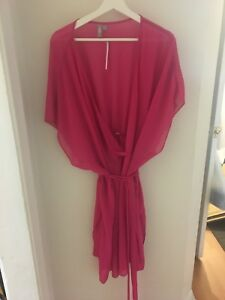 Plus size 20 woman's beach cover up pink