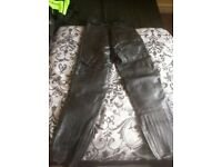 size 14 ladies leather trousers