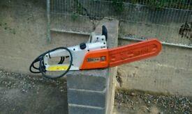 Stihl 240v electric chainsaw