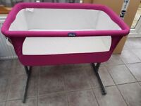 Pink Chicco Next2Me Crib