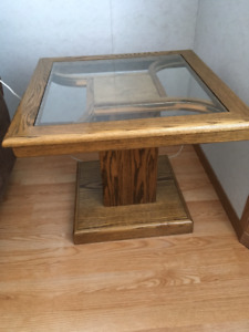 Solid Oak End Tables & Sofa Table