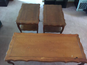 Coffee table 2 end tables 100