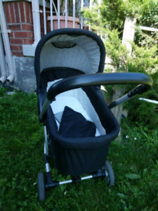 Malibu 4-in-1 Stroller with car seat adapter and bassinet
