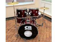 COMPLETE 5 DRUM STARTER KIT - STANDS, STOOL, CYMBALS - ALL YOU NEED