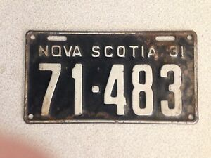 Antique 1931 Nova Scotia Licence Plate