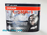 2 x Osram H7 12V 55W Night Breaker Unlimited Headlight/Headlamp Bulbs - Pair