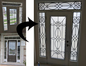 Wrought Iron Door Inserts and Stained Glass Door Inserts