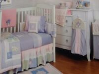 Kidsline Camelot Baby Girl Nursery / Cot / Cot Bed Bedding Set Plus Nursery Accessories, 14 Items