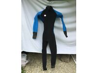 Custom made boys full length wet suit in extra thick neoprene. 2 for sale individually.