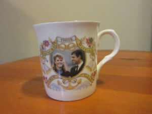 English teacup Fergie and Prince Andrew cup