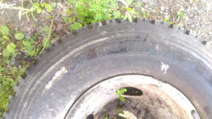 tire left by previous homeowner...