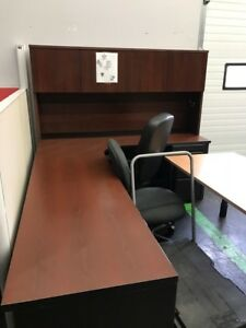 L shaped desk,