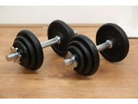 JLL Fitness Ltd - 20kg Cast Iron Dumbbell Set - Ex Display - Collection Only - REDUCED PRICE