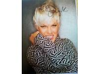 Signed photo of Pink