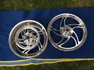 Set of Pro 1 Storm Custom mag Wheels and Pulley New