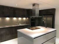 New Kitchen splashback panel pewter