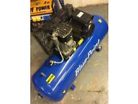 Bluepoint air compressor 200lt a month old. Snap on air tool