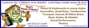 Tony's House Of Music Piano Lessons Guitar Lessons Voice Lessons