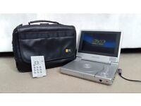 FERGUSON Portable DVD Player + Leather Case