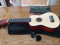 Ukelele with tuner & beginner's manual/CD
