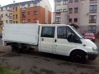 Sell ford transit 6 + 1 truck 2005 Very good engine, has 90 horses