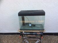 Complete tropical aquarium fish tank set