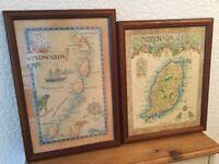 Framed Maps of Winward Isles