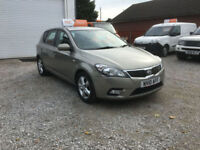 2010 KIA CEED 1.6 2 ,5 DR.ONLY 52000 MILES WITH FULL KIA SERVICE HISTORY,