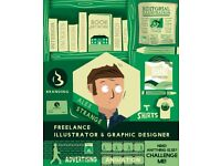 Freelance Illustration and Graphic Design services for Hire