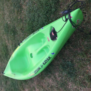 Green sit-on-top kayak for sale