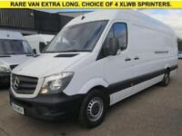 2014 14 MERCEDES-BENZ SPRINTER 2.1 313CDI XLWB HIGH ROOF 129 BHP. 1 OWNER. RARE