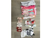 Girls 0-3 months Tights/shoes/socks /hats