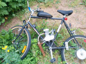 2 Motorized Bikes for parts ( Not in working condition )