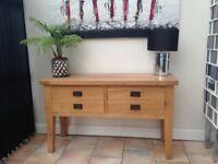 Solid Oak Sideboard \ Console Table