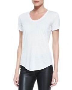NWT Helmut Lang kinetic scoop neck white t-shirt - size P XS