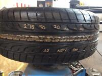 Dunlop tyre 275/50/20 8mil tread as new