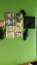 Xbox 360, Kinect Sensor,HDMI Cable,Play and Charge Kit,Controller And 9 games